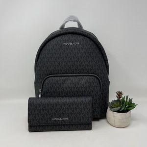 Michael Kors Erin Medium Backpack and Wallet